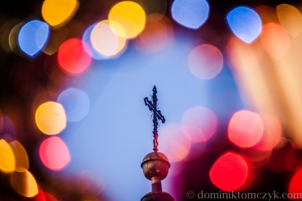 Boże Narodzenie, Christmas, Kraków, Rynek Główny, bokeh, światło, light