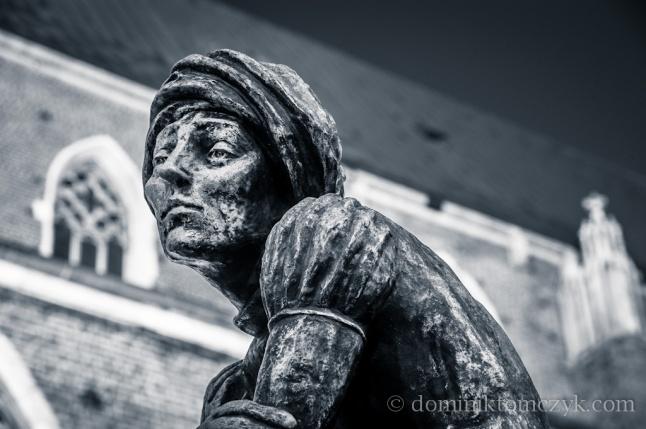 """Kraków, #Kraków, Plac Mariacki, #PlacMariacki, pominik, #pomnik, monuments, #monuments,""""Żak krakowski"""", Jan Budziłło, #JanBudziłło, Wit Stwosz, #WitStosz"""